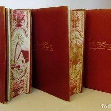 Libros de segunda mano: VICENTE BLASCO IBAÑEZ - OBRAS COMPLETAS 3 VOLÚMENES ED. AGUILAR 1946 - 1ª EDICIÓN. Lote 149478318