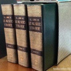 Libros de segunda mano: EL LIBRO DE LAS MIL NOCHES Y UNA NOCHE. 3 TOMOS, OBRA COMPLETA, 1959.. Lote 150080486