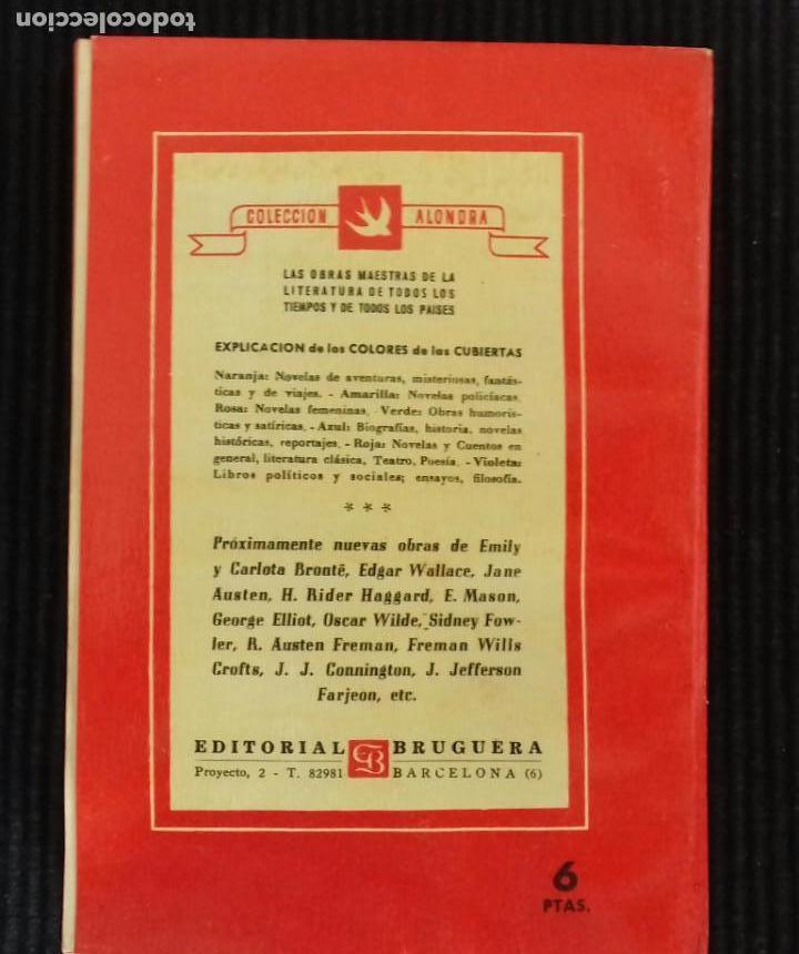 Libros de segunda mano: JANE EYRE. CHARLOTTE BRONTË. EDITORIAL BRUGUERA 1945. COLECCION ALONDRA. - Foto 2 - 150196026