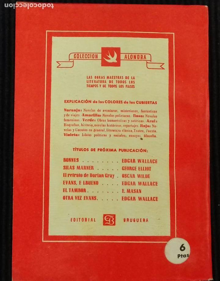 Libros de segunda mano: BOSAMBO DEL RIO. EDGAR WALLACE. EDITORIAL BRUGUERA 1945. COLECCION ALONDRA. - Foto 2 - 150197726