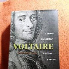 Libros de segunda mano: CUENTOS COMPLETOS EN PROSA Y VERSO, DE VOLTAIRE. CIRCULO. TAPA DURA, EXCELENTE ESTADO.. Lote 150683026
