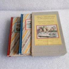 Libros de segunda mano: ALICE IN WONDERLAND, LEWIS CARROLL, 2 VOLUMENES (1946, RANDOM HOUSE). Lote 150786654