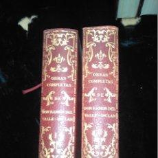 Libros de segunda mano: OBRAS COMPLETAS DE DON RAMÓN DEL VALLE INCLAN. TOMOS I Y II. EDITORIAL PLENITUD. Lote 152111554