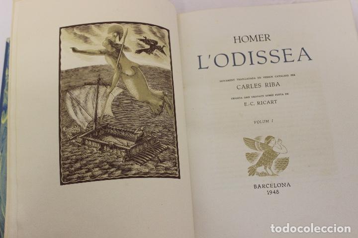 Libros de segunda mano: LA ODISSEA DE HOMER, TRADUCIDA AL CATALÁN POR CARLES RIBA GRABADOS A LA MADERA POR E.C. RICART. 1948 - Foto 6 - 152301842