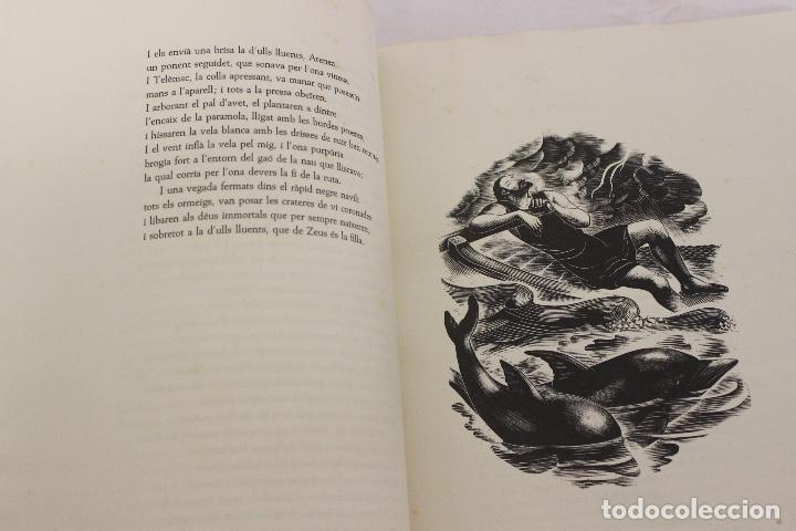 Libros de segunda mano: LA ODISSEA DE HOMER, TRADUCIDA AL CATALÁN POR CARLES RIBA GRABADOS A LA MADERA POR E.C. RICART. 1948 - Foto 8 - 152301842