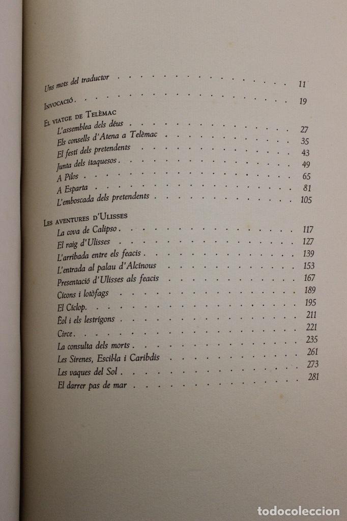 Libros de segunda mano: LA ODISSEA DE HOMER, TRADUCIDA AL CATALÁN POR CARLES RIBA GRABADOS A LA MADERA POR E.C. RICART. 1948 - Foto 14 - 152301842