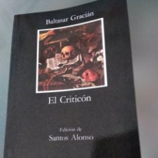 Libros de segunda mano: EL CRITICÓN. BALTASAR GRACIÁN. Lote 152605460