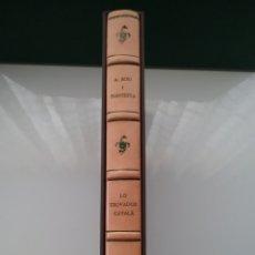Libros de segunda mano: LIBRO LO TROVADOR CATALÀ A. BORI I CONTESTA 1988 CON 8 LITOGRAFÍAS ORIGINALES DE JORDI CURÓS.. Lote 152652502