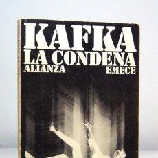 Libros de segunda mano: LA CONDENA (1978), DE FRANZ KAFKA, ALIANZA EDITORIAL Y EMECÉ EDITORES, COL. EL LIBRO DE BOLSILLO.. Lote 152698894