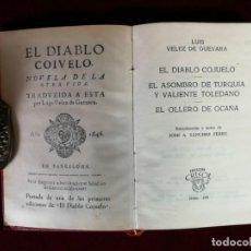Livros em segunda mão: AGUILAR CRISOL Nº 168 LUIS VELEZ DE GUEVARA EL DIABLO COJUELO EL OLLERO DE OCAÑA 2DA ED. 1960. Lote 153079430