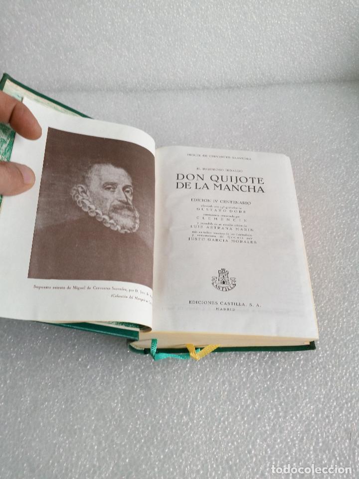 Libros de segunda mano: CERVANTES : DON QUIJOTE DE LA MANCHA (CASTILLA, 1966) EDICION DEL IV CENTENARIO - Foto 10 - 153684666