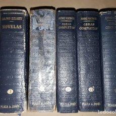 Libros de segunda mano: EDICIONES PLAZA JANES,5 TOMOS PIEL DIFERENTES AUTORES.. Lote 154181470