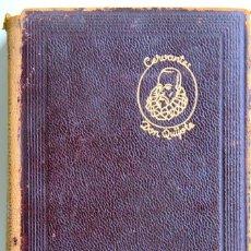 Libros de segunda mano: QUIJOTE DE JUSTO GARCIA-ILUSTRADO-PAPEL BÍBLIA:¡2 TOMOS EN 1 VOLUMEN 14X9,5 CM! ED.AGUILAR 1957-PIEL. Lote 154350994