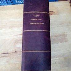 Libros de segunda mano: EN BUSCA DEL TIEMPO PERDIDO (COMPLETA) - PROUST, MARCEL (1871-1922). Lote 154936510