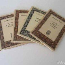 Libros de segunda mano: 4 LIBROS: CLASICOS EBRO. Lote 154994246