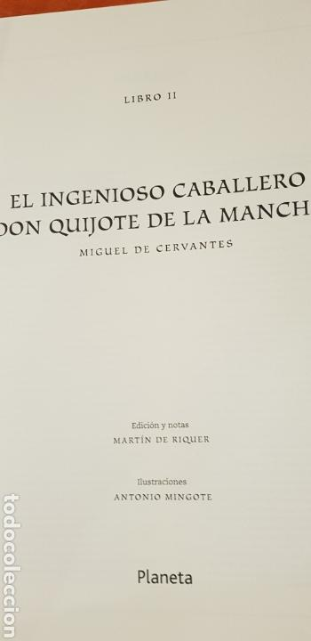 Libros de segunda mano: DON QUIJOTE DE LA MANCHA, MINGOTE, II TOMOS.EDICION LIMITADA. - Foto 10 - 155601765