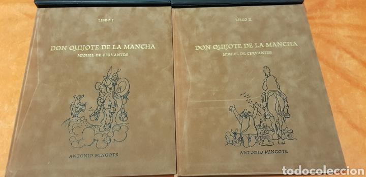 Libros de segunda mano: DON QUIJOTE DE LA MANCHA, MINGOTE, II TOMOS.EDICION LIMITADA. - Foto 3 - 155601765