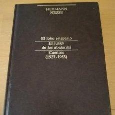 Libros de segunda mano: EL LOBO ESTEPARIO / EL JUEGO DE LOS ABALORIOS / CUENTOS (1927 - 1953) - HERMAN HESSE. Lote 155621210