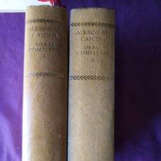Libros de segunda mano: ALEJANDRO CASONA OBRAS COMPLETAS I II AGUILAR OBRAS COMPLETAS. Lote 155656298