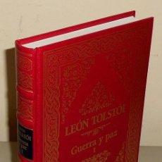 Libros de segunda mano: TOLSTOI. GUERRA Y PAZ. TOMO I. CLUB INTERNACIONAL DEL LIBRO. NUEVO A ESTRENAR Y PRECINTADO.. Lote 156661314