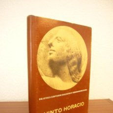 Libros de segunda mano: QUINTO HORACIO FLACO: XL ODAS SELECTAS. ED. BILINGÜE DE A. MÉNDEZ PLANCARTE (UNAM) PERFECTO. RARO.. Lote 156741790