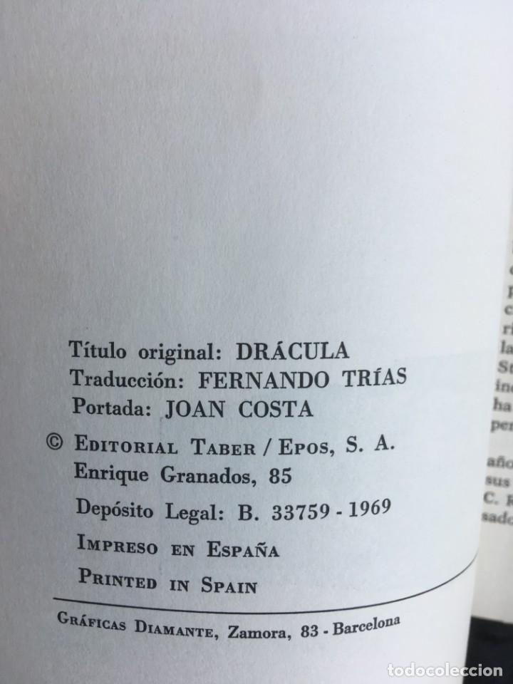 Libros de segunda mano: DRACULA - BRAM STOKER - EDITORIAL TABER - 1969 - ILUSTRADO - Foto 3 - 157257478