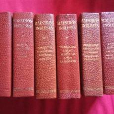 Libros de segunda mano: MAESTROS INGLESES COMPLETO EDITORIAL PLANETA.6 TOMOS.. Lote 157953794