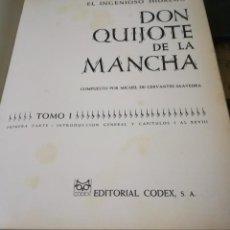 Libros de segunda mano: EL INGENIOSO HIDALGO DON QUIJOTE DE LA MANCHA - MIGUEL DE CERVANTES - ILUSTRADO. Lote 158155506