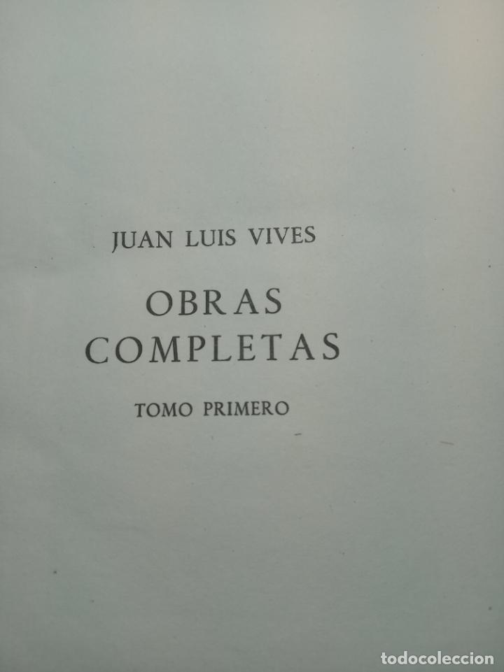 Libros de segunda mano: Obras completas. Juan Luis Vives. Dos tomos. primera edición. Aguilar. Madrid. 1947. - Foto 3 - 158307810