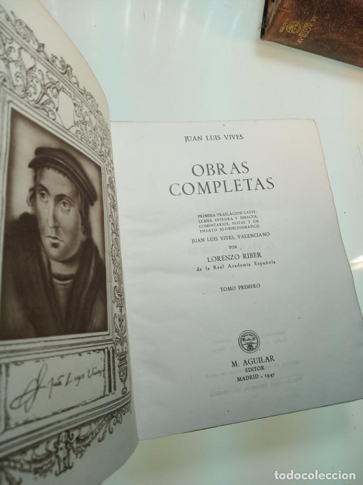 Libros de segunda mano: Obras completas. Juan Luis Vives. Dos tomos. primera edición. Aguilar. Madrid. 1947. - Foto 4 - 158307810