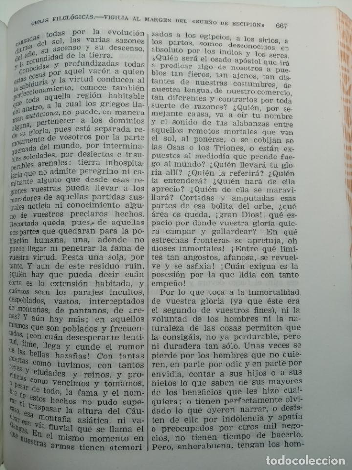 Libros de segunda mano: Obras completas. Juan Luis Vives. Dos tomos. primera edición. Aguilar. Madrid. 1947. - Foto 7 - 158307810