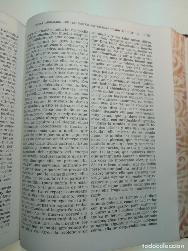 Libros de segunda mano: Obras completas. Juan Luis Vives. Dos tomos. primera edición. Aguilar. Madrid. 1947. - Foto 8 - 158307810