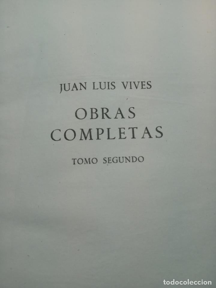 Libros de segunda mano: Obras completas. Juan Luis Vives. Dos tomos. primera edición. Aguilar. Madrid. 1947. - Foto 11 - 158307810