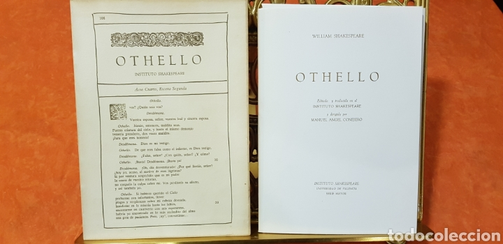 OTHELLO,WILLIAM SHAKESPEARE. (Libros de Segunda Mano (posteriores a 1936) - Literatura - Narrativa - Clásicos)
