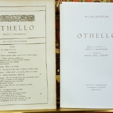 Libros de segunda mano: OTHELLO,WILLIAM SHAKESPEARE.. Lote 158316794