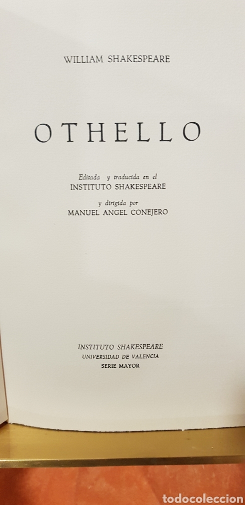 Libros de segunda mano: OTHELLO,William Shakespeare. - Foto 3 - 158316794