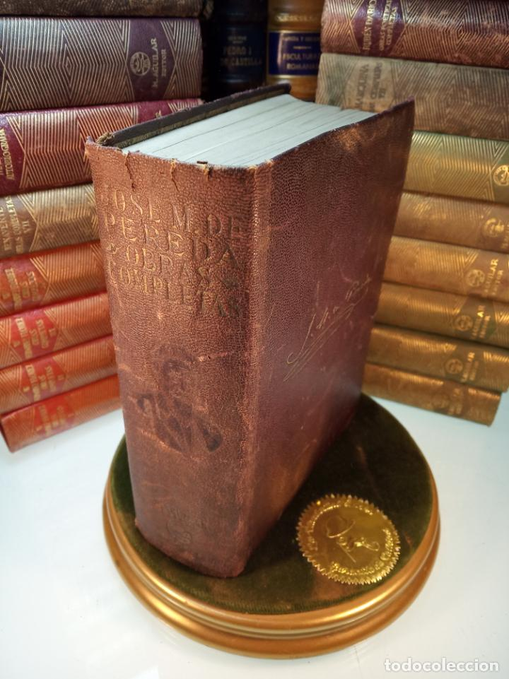 OBRAS COMPLETAS. JOSE MARÍA PEREDA. PRIMERA EDICIÓN. M. AGUILAR. MADRID. 1934. (Libros de Segunda Mano (posteriores a 1936) - Literatura - Narrativa - Clásicos)