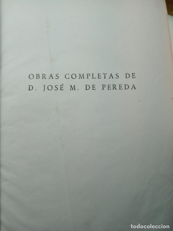 Libros de segunda mano: Obras completas. Jose María Pereda. Primera edición. M. Aguilar. Madrid. 1934. - Foto 3 - 158420818