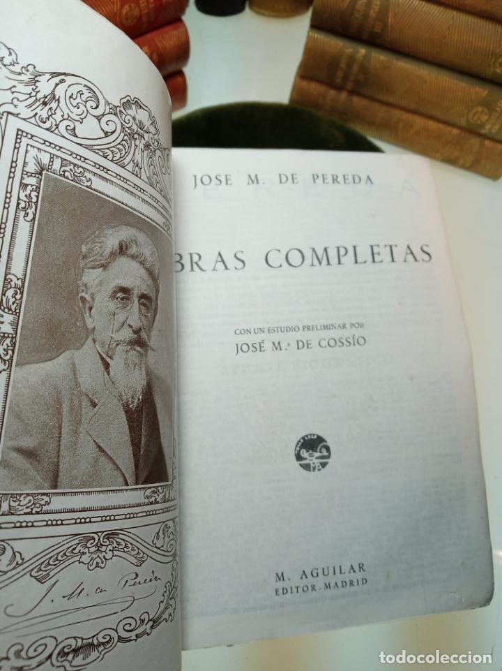 Libros de segunda mano: Obras completas. Jose María Pereda. Primera edición. M. Aguilar. Madrid. 1934. - Foto 4 - 158420818