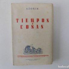 Libros de segunda mano: LIBRERIA GHOTICA. AZORIN. TIEMPOS Y COSAS.1929. COLECCIÓN VARIORUM.. Lote 158465338