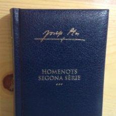Libros de segunda mano: HOMENOTS SEGONA SERIE, JOSEP PLA, 2004. Lote 158535150