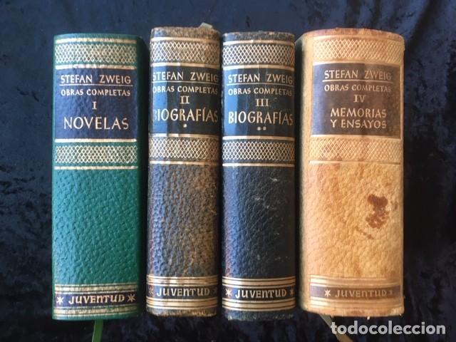 ZWEIG - OBRAS COMPLETAS 4 TOMOS - I NOVELAS II Y III . BIOGRAFIAS IV . MEMORIAS Y ENSAYOS - JUVENTUD (Libros de Segunda Mano (posteriores a 1936) - Literatura - Narrativa - Clásicos)