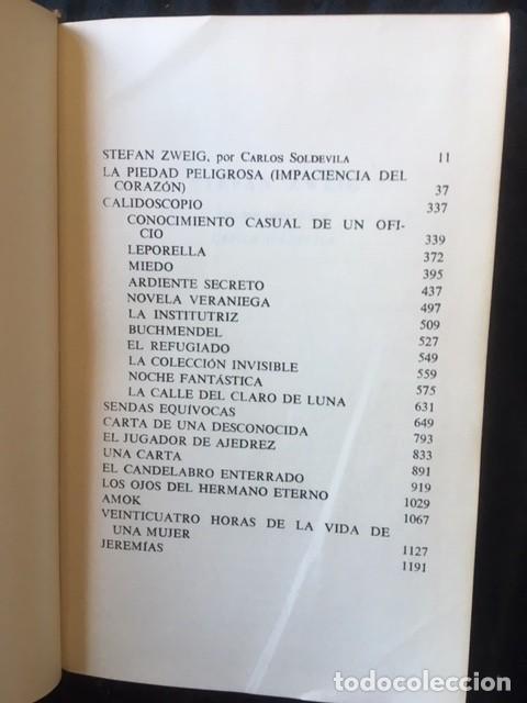 Libros de segunda mano: ZWEIG - OBRAS COMPLETAS 4 TOMOS - I NOVELAS II y III . BIOGRAFIAS IV . MEMORIAS Y ENSAYOS - JUVENTUD - Foto 3 - 158720118