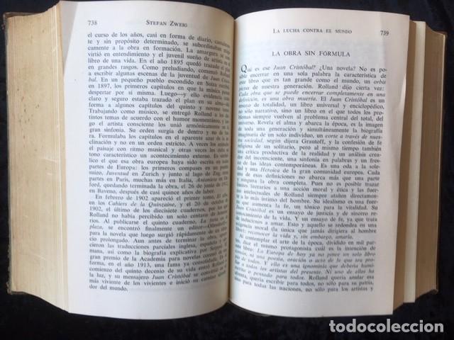 Libros de segunda mano: ZWEIG - OBRAS COMPLETAS 4 TOMOS - I NOVELAS II y III . BIOGRAFIAS IV . MEMORIAS Y ENSAYOS - JUVENTUD - Foto 7 - 158720118