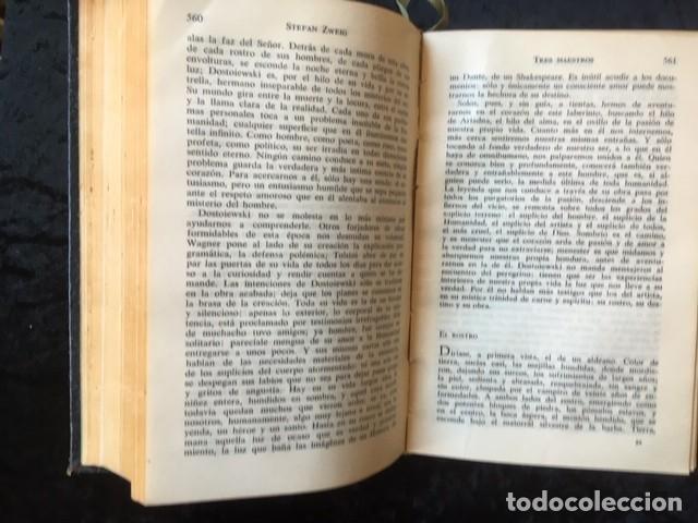 Libros de segunda mano: ZWEIG - OBRAS COMPLETAS 4 TOMOS - I NOVELAS II y III . BIOGRAFIAS IV . MEMORIAS Y ENSAYOS - JUVENTUD - Foto 11 - 158720118