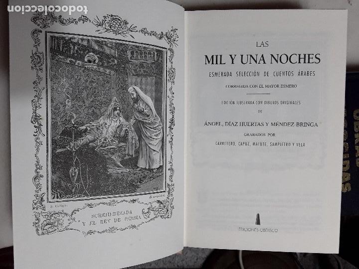 Libros de segunda mano: Las mil y una noches. Facsímil de la edición de Calleja. Tapa dura. Obelisco, 2000. Excelente estado - Foto 3 - 159295454