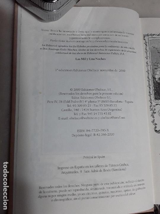 Libros de segunda mano: Las mil y una noches. Facsímil de la edición de Calleja. Tapa dura. Obelisco, 2000. Excelente estado - Foto 4 - 159295454