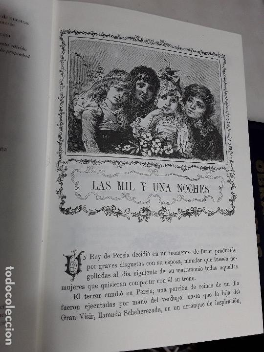 Libros de segunda mano: Las mil y una noches. Facsímil de la edición de Calleja. Tapa dura. Obelisco, 2000. Excelente estado - Foto 5 - 159295454
