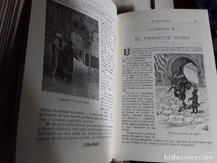 Libros de segunda mano: Las mil y una noches. Facsímil de la edición de Calleja. Tapa dura. Obelisco, 2000. Excelente estado - Foto 7 - 159295454