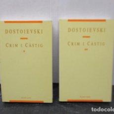 Livros em segunda mão: CRIM I CÀSTIG, 2 TOMOS. POR DOSTOIEVSKI.. Lote 159561350